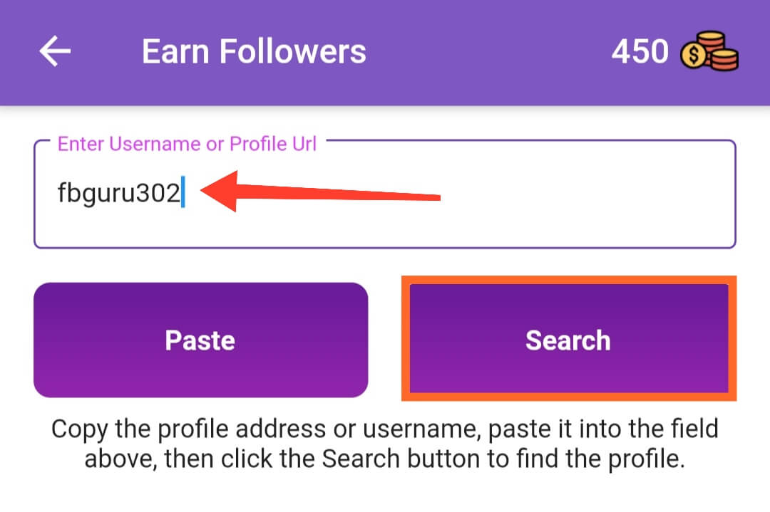 Enter Targeted Username