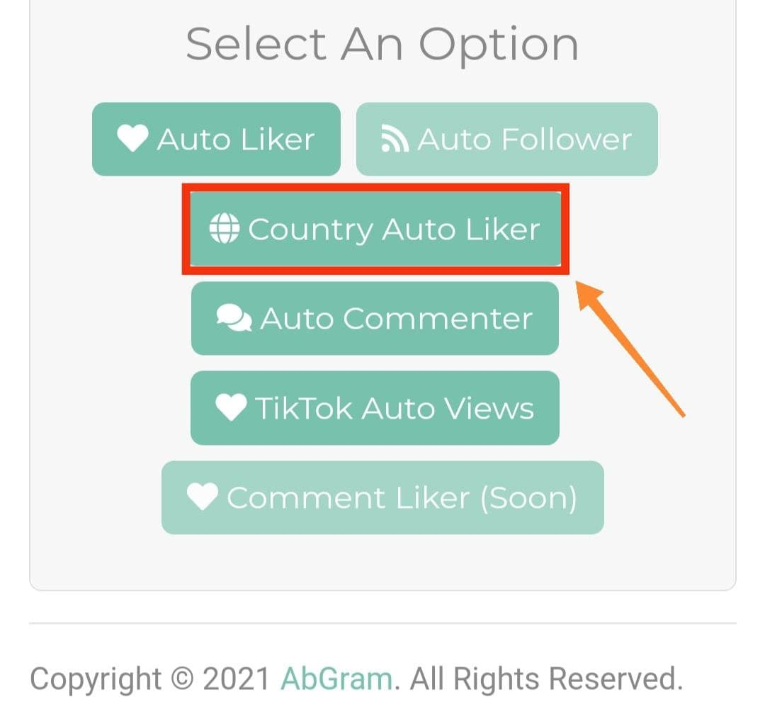 Select Country Auto Liker