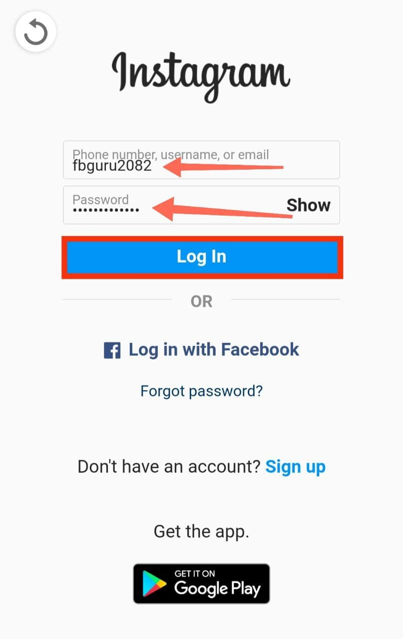 Login Your Account InTo This App